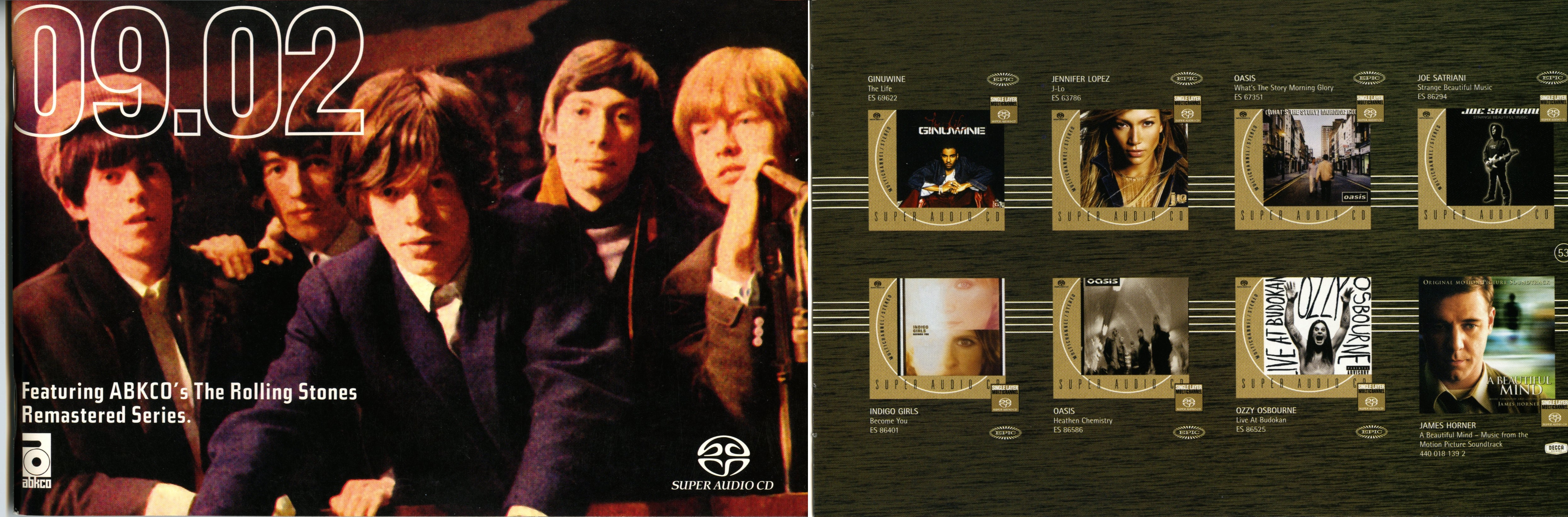 Oasis in Sony's Super Audio CD catalogue for February 2002. The planned SACD release of Heathen Chemistry was never released. Scans courtesy Charger of the Steve Hoffman Music Forum