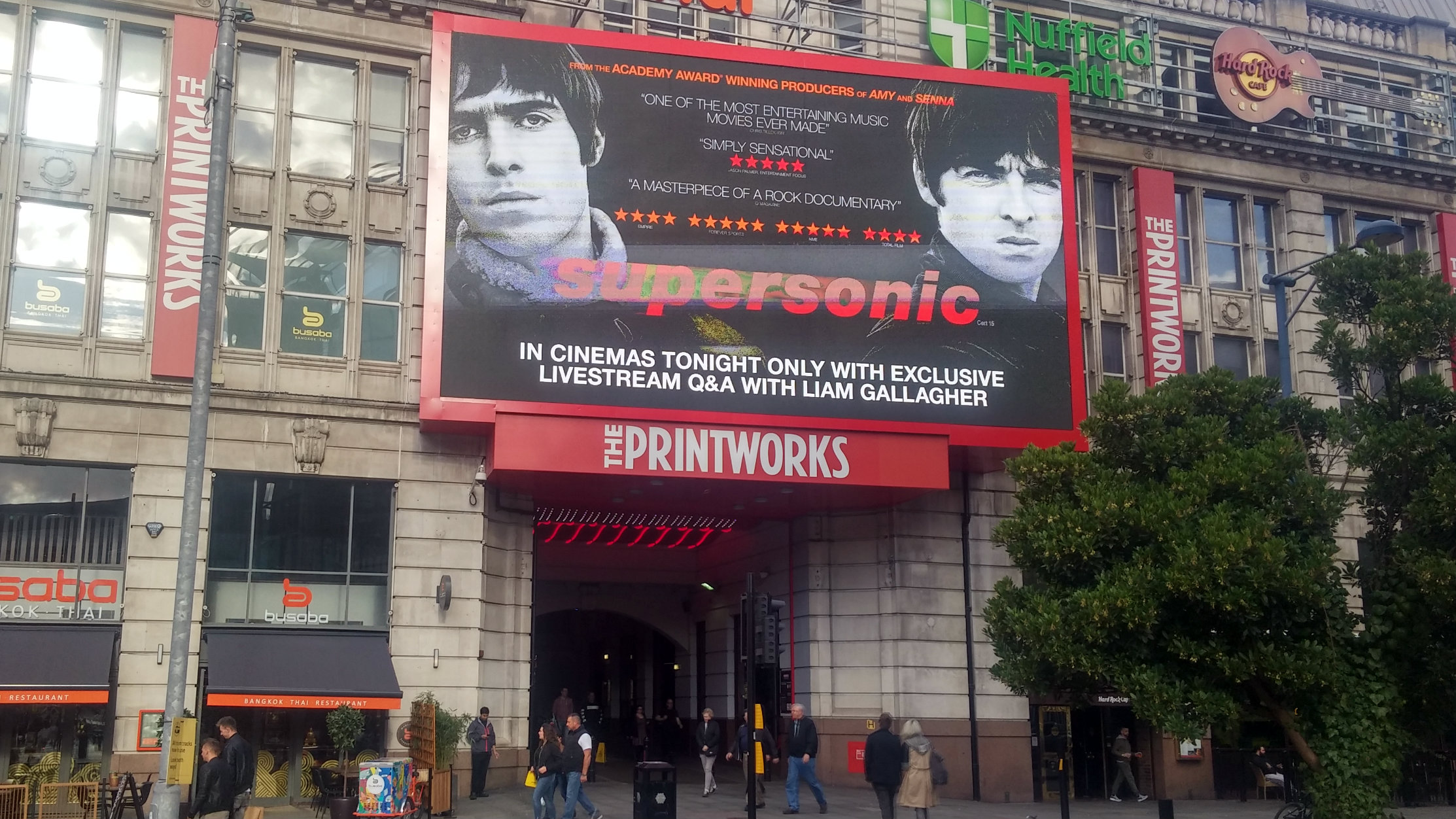 Odeon Printworks before the premiere of Supersonic, 2nd October 2016.